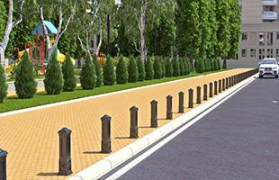 Устройство парковочных и дорожных столбиков