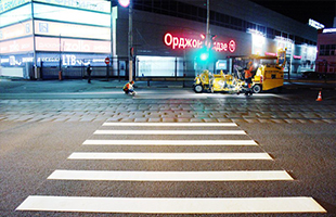 Разметка пешеходных переходов