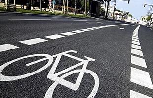 Разметка велодорожек